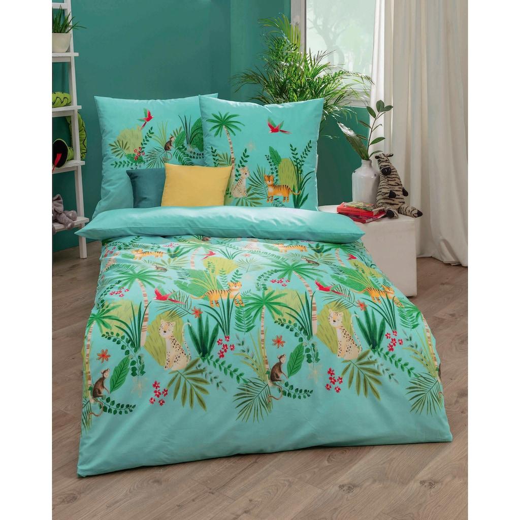 Kaeppel Kinderbettwäsche »Tropical Wildlife«, mit Dschungel-Motiv