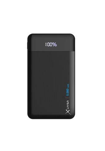 XLAYER Zusatzakku »Powerbank X - Charger Anthracite 5000mAh Smartphones« kaufen