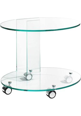 Places of Style Beistelltisch, aus Floatglas, Rollwagen, Küchenwagen kaufen