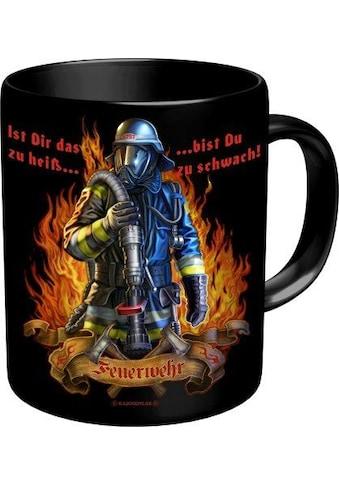 Rahmenlos Kaffeebecher mit Feuerwehrmann - Motiv kaufen