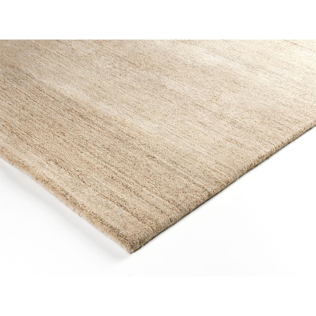 OCI DIE TEPPICHMARKE Teppich »Davina Uni«, rechteckig, 20 mm Höhe, handgeknüpft, Wohnzimmer