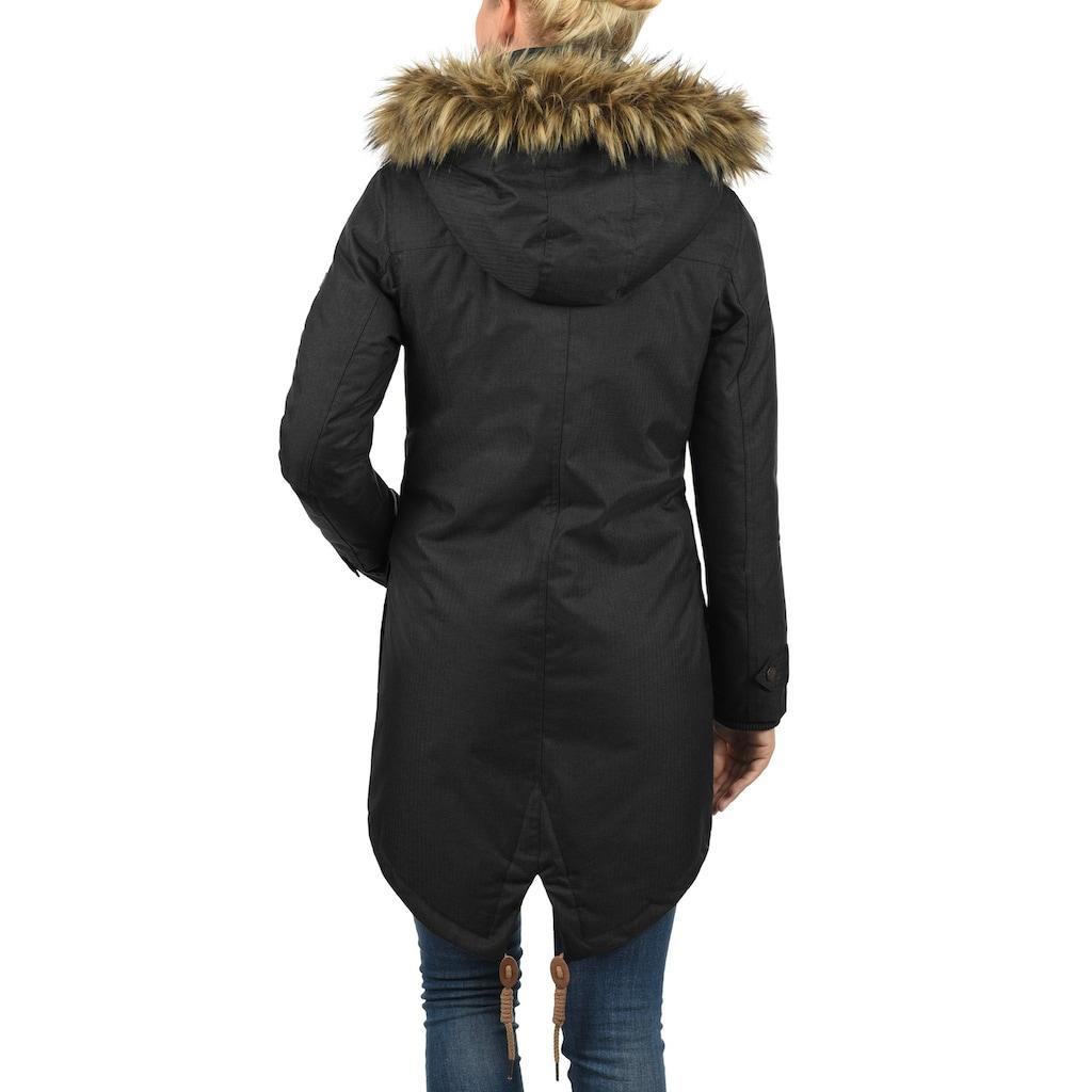 DESIRES Parka »Bea«, warme Jacke mit abnehmbarer Kapuze und Fellkragen