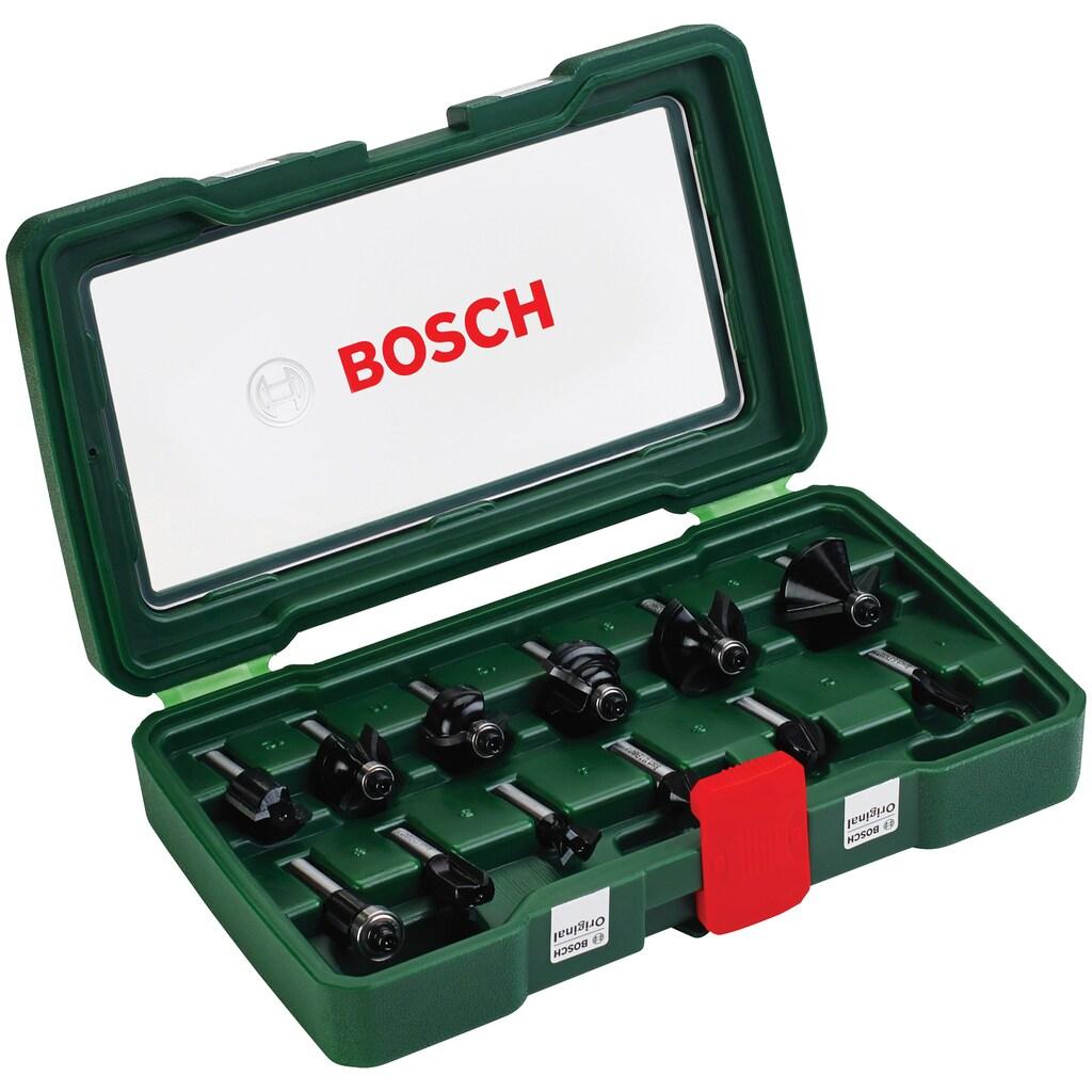 BOSCH Fräsbohrer, (Set, 12 tlg.), HM-Fräser 8 mm Schaft
