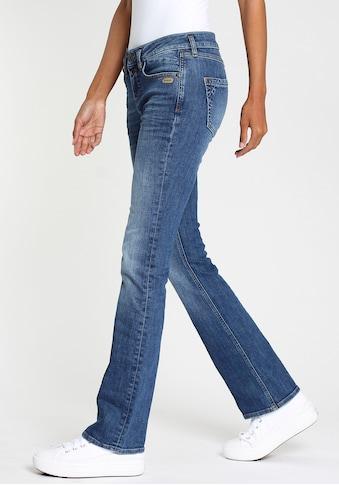 GANG Bootcut-Jeans »ELISA-GA«, mit 2-Knopf Verschluss und umgeklappter Coinpocket kaufen