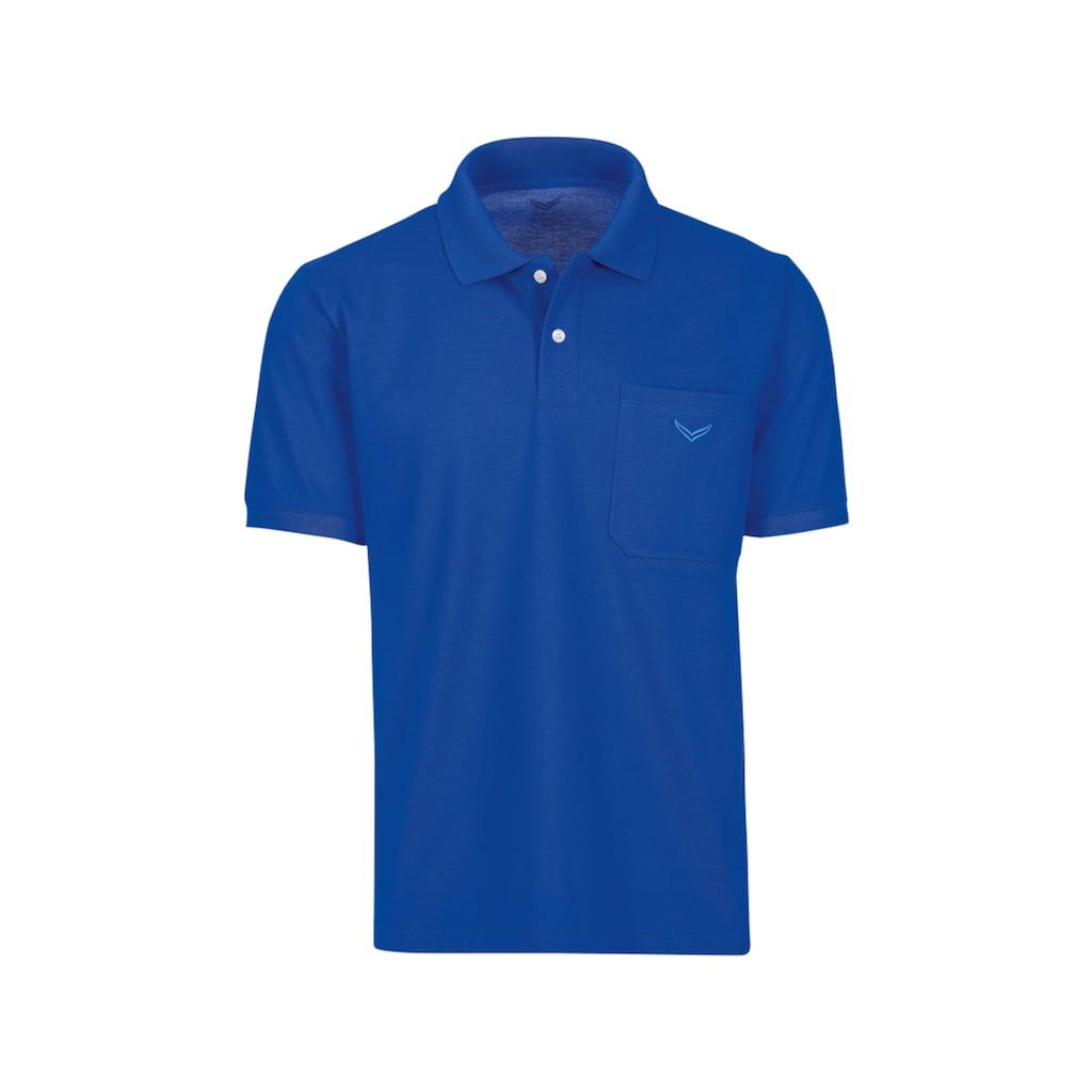 Trigema Poloshirt, mit Brusttasche