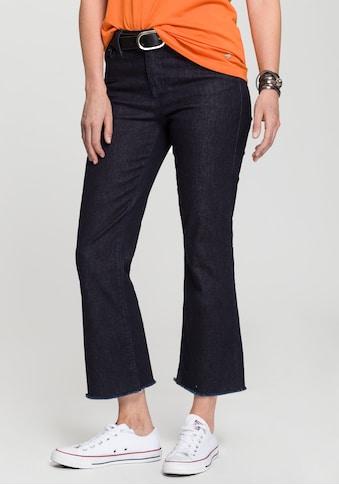 H.I.S Bootcut-Jeans »cropped, High-Waist«, Nachhaltige, wassersparende Produktion durch OZON WASH kaufen