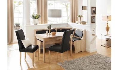 Home affaire Essgruppe »Spree«, (Set, 5 St.), bestehend aus Eckbank, Tisch und 2 Stühlen kaufen