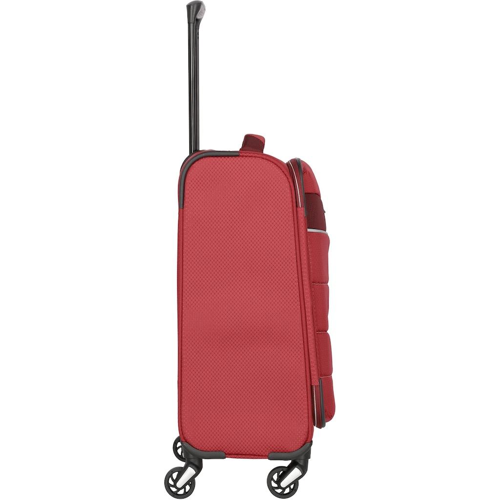 travelite Trolleyset »Kite, rot«, (4 tlg.)