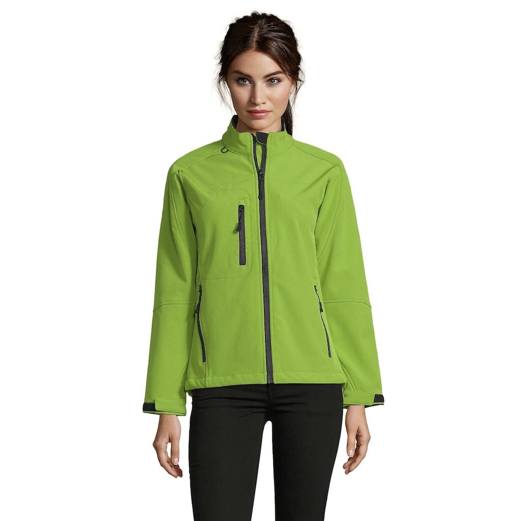 SOLS Softshelljacke »Damen Roxy Softshell-Jacke, atmungsaktiv, winddicht, wasserabweisend«