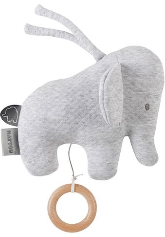 Nattou Spieluhr »Tembo, Elefant, 18 cm«, Jacquard grau kaufen