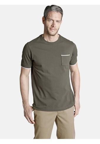 Charles Colby Rundhalsshirt »ERROL«, Brusttasche mit Kontrast kaufen