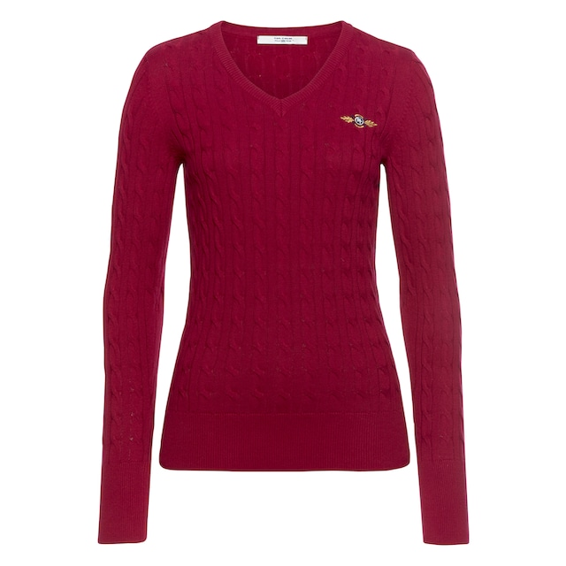 TOM TAILOR Polo Team V-Ausschnitt-Pullover