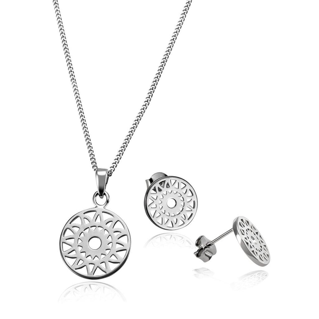 goldmaid Collier, Schmuckset aus Ohrstecker und 925/- Silber