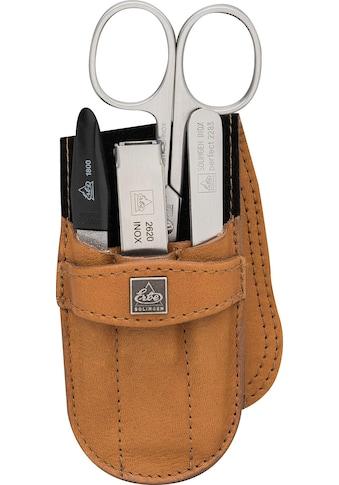ERBE Maniküre-Etui »Taschenetui mit Steckverschluss aus echtem Leder«, bestückt mit... kaufen