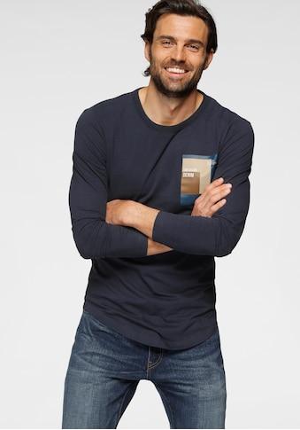 TOM TAILOR Denim Langarmshirt, mit Logoprint kaufen