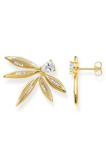 THOMAS SABO Paar Ohrstecker »Blätter gold, H2106-414-14«, mit Zirkonia kaufen