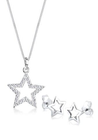 Elli Schmuckset »Sterne Kristalle 925 Sterling Silber« kaufen