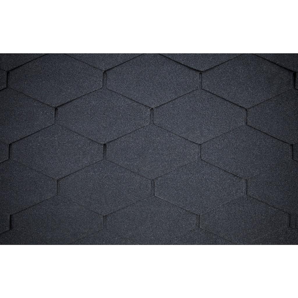 SKANHOLZ Rechteck-Dachschindeln , schwarz