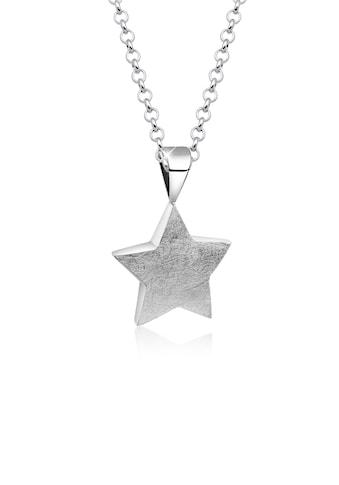 Nenalina Kette mit Anhänger »Stern Star Anhänger Astro Gebürstet 925 Silber« kaufen