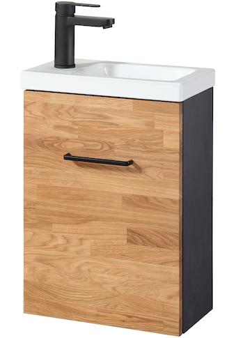 WELLTIME Premium - Waschtisch »Lund«, Gästebad, Breite 40 cm, 2 - tlg., Massivholz kaufen