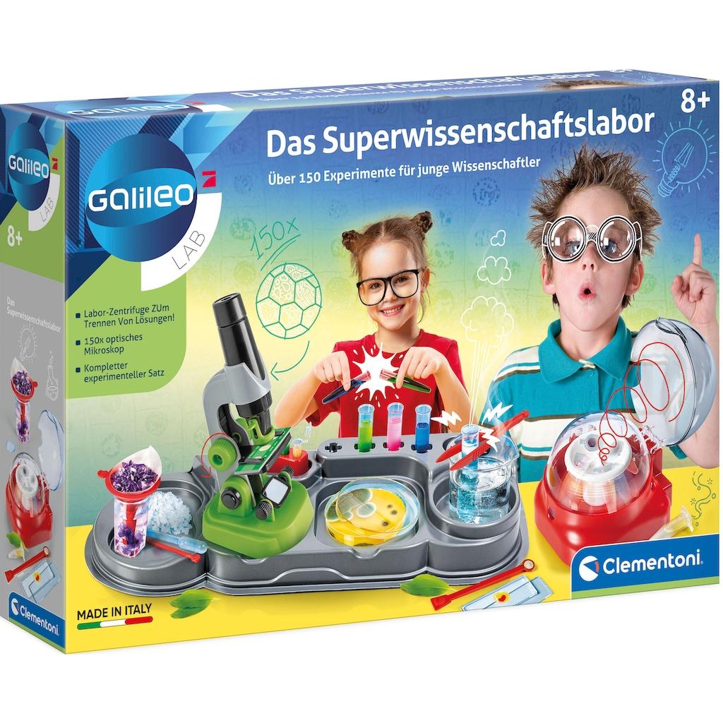 Clementoni® Experimentierkasten »Galileo - Das Superwissenschaftslabor«, Made in Europe