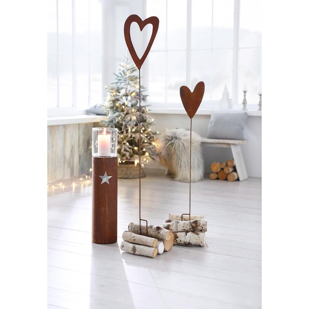 Gartenstecker »Herz«, (Set)