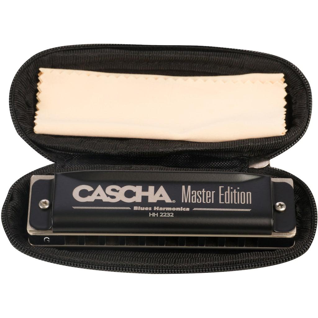 Cascha Mundharmonika »Master Edition Blues in G-Dur«, inkl. Soft Case und Pflegetuch