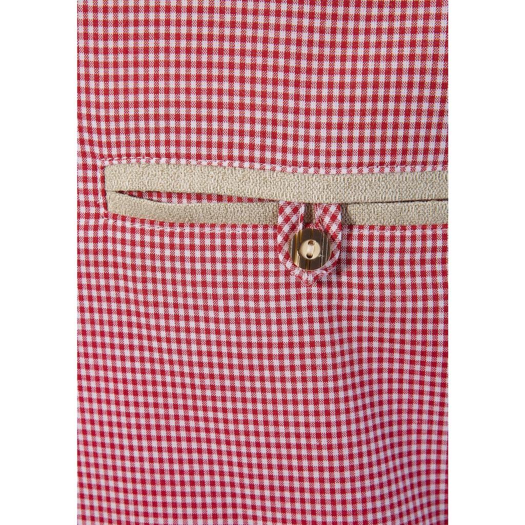 OS-Trachten Trachtenhemd, mit Edelweiß- Stickerei