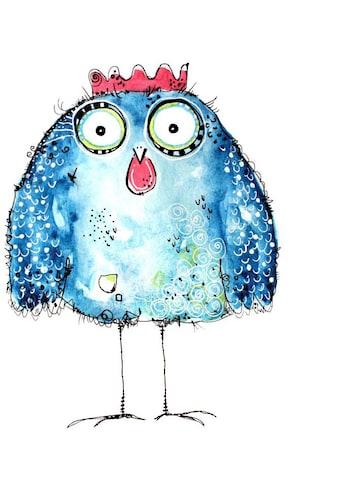 Wall-Art Wandtattoo »Buntes Huhn - Crazy Hen« kaufen