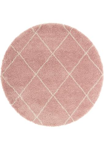Hochflor - Teppich, »Belle«, Leonique, rund, Höhe 35 mm, maschinell gewebt kaufen