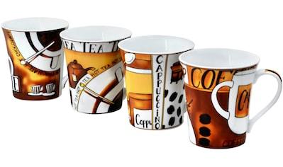 Retsch Arzberg Becher »Kaffee«, (Set, 4 tlg.), 4-teilig kaufen
