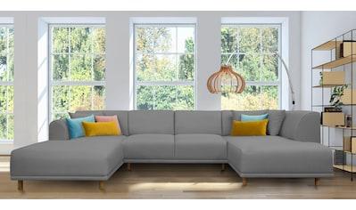 andas Wohnlandschaft »Maroon«, in skandinavischem Design, mit losen Kissen kaufen