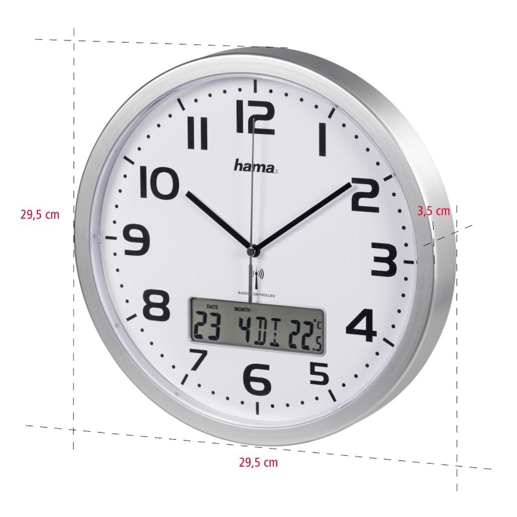 """Hama Funkwanduhr """"Extra"""" mit Datum- und Temperaturanzeige"""
