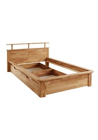 andas Einzelbett »Kelda«, (3 St.), aus massivem Eichenholz, in diversen Breiten, mit 2... kaufen