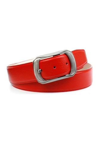 Anthoni Crown Ledergürtel, mit matter Schließe, helle Rückseite kaufen