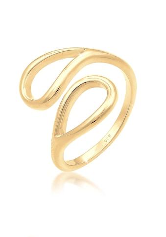 Elli Fingerring »Tropfen Look Offen Verstellbar 925er Silber« kaufen