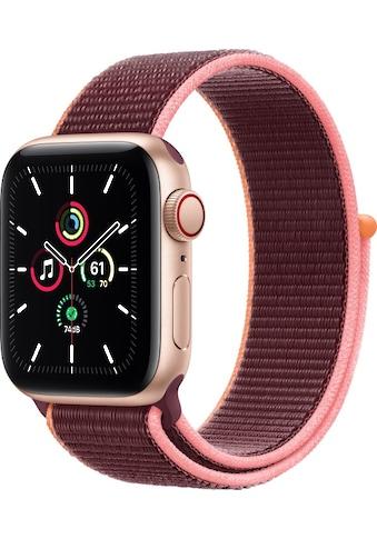 Apple Smartwatch »Apple Watch Series SE GPS + Cellular, Aluminium Gehäuse, 40 mm mit Sportarmband« ( kaufen
