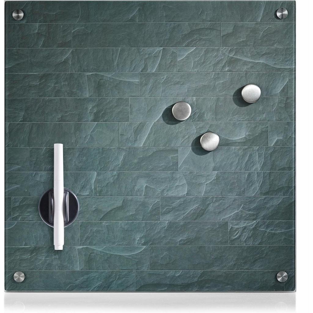 Zeller Present Magnettafel »Stonewall«, Memoboard, aus Glas, Stein Motiv