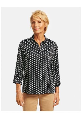 GERRY WEBER Klassische Bluse »3/4 Arm Bluse mit Kringelprint« kaufen