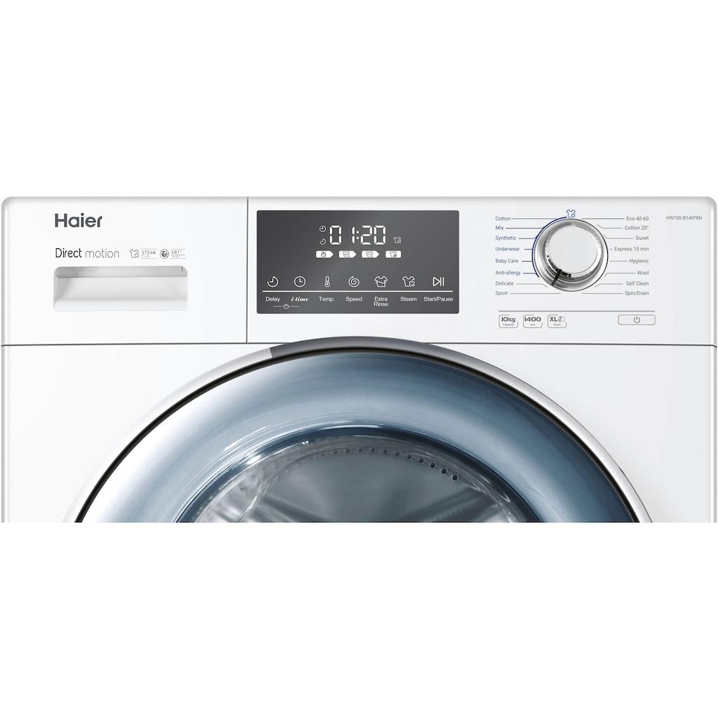 Haier Waschmaschine »HW100-B14876N«, HW100-B14876N, 10 kg, 1400 U/min