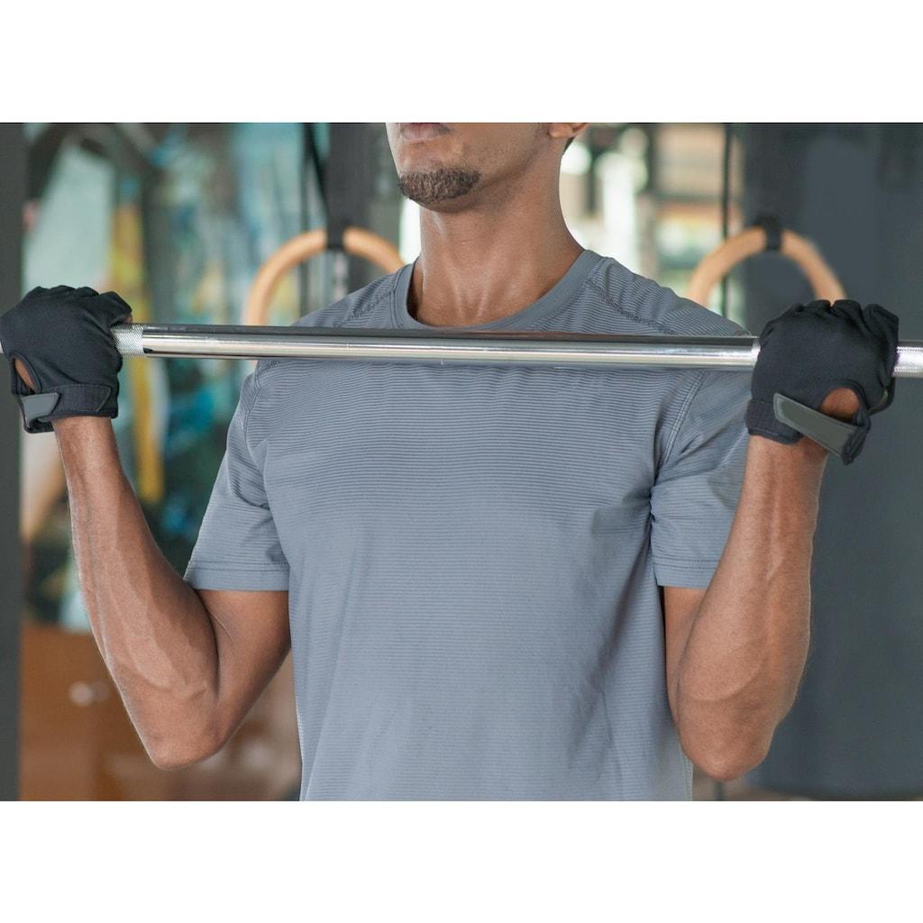 body coach Langhantelstange, Chrom-Eisen, 152 cm, Chrom, Eisen, 152 cm (mit Sternverschlüssen)