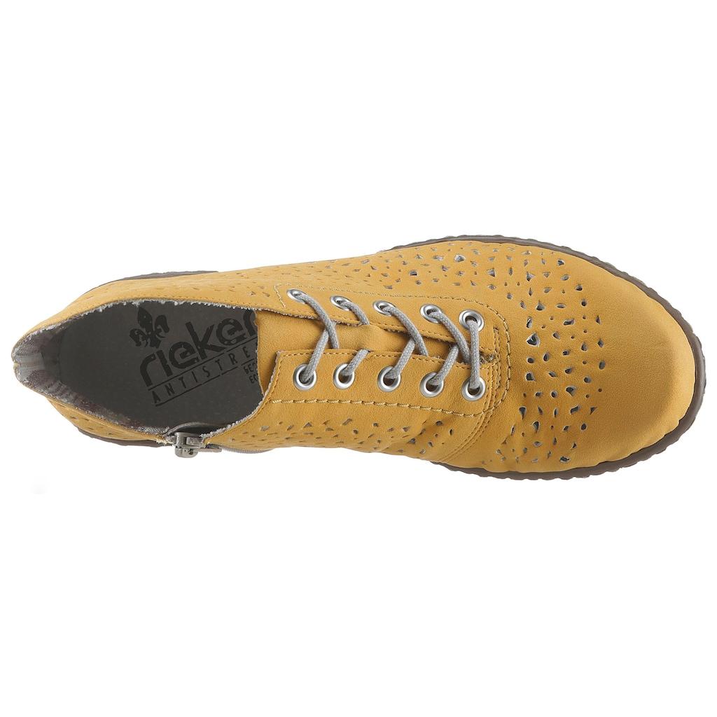 Rieker Schnürstiefelette, in aktueller Trend-Farbe