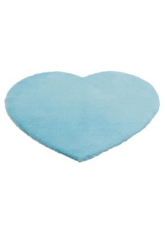 Lüttenhütt Kinderteppich »Herz«, herzförmig, 25 mm Höhe, Kaninchenfell-Haptik,... kaufen