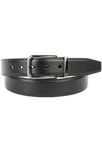 Anthoni Crown Ledergürtel, mit glänzender Dornschließe und Ton in Ton Ziernaht kaufen