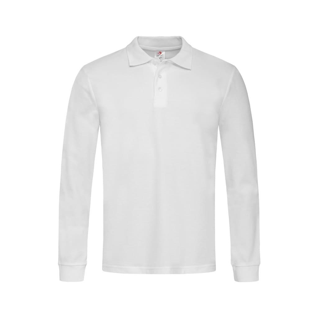 Stedman Langarm-Poloshirt, mit Ton-in-Ton-Knopfleiste