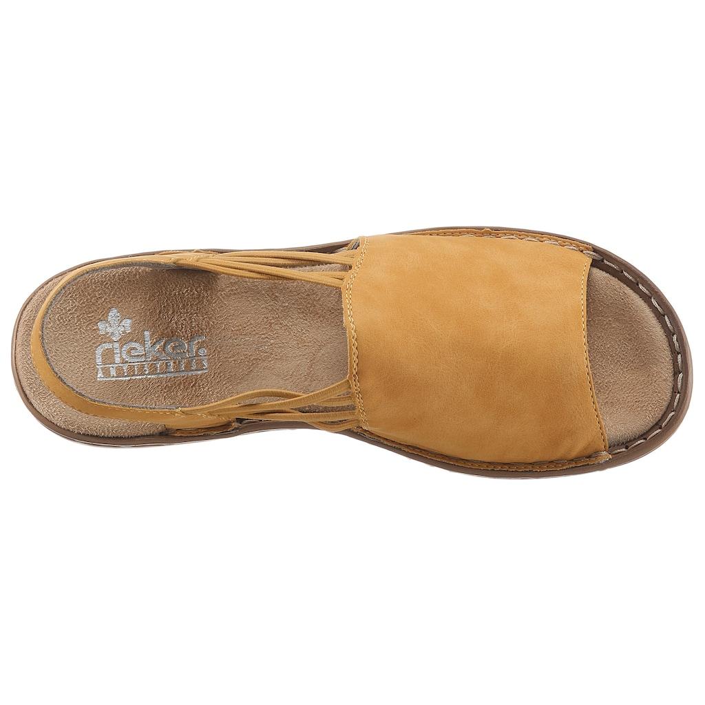 Rieker Sandale, mit Gummizugbändern