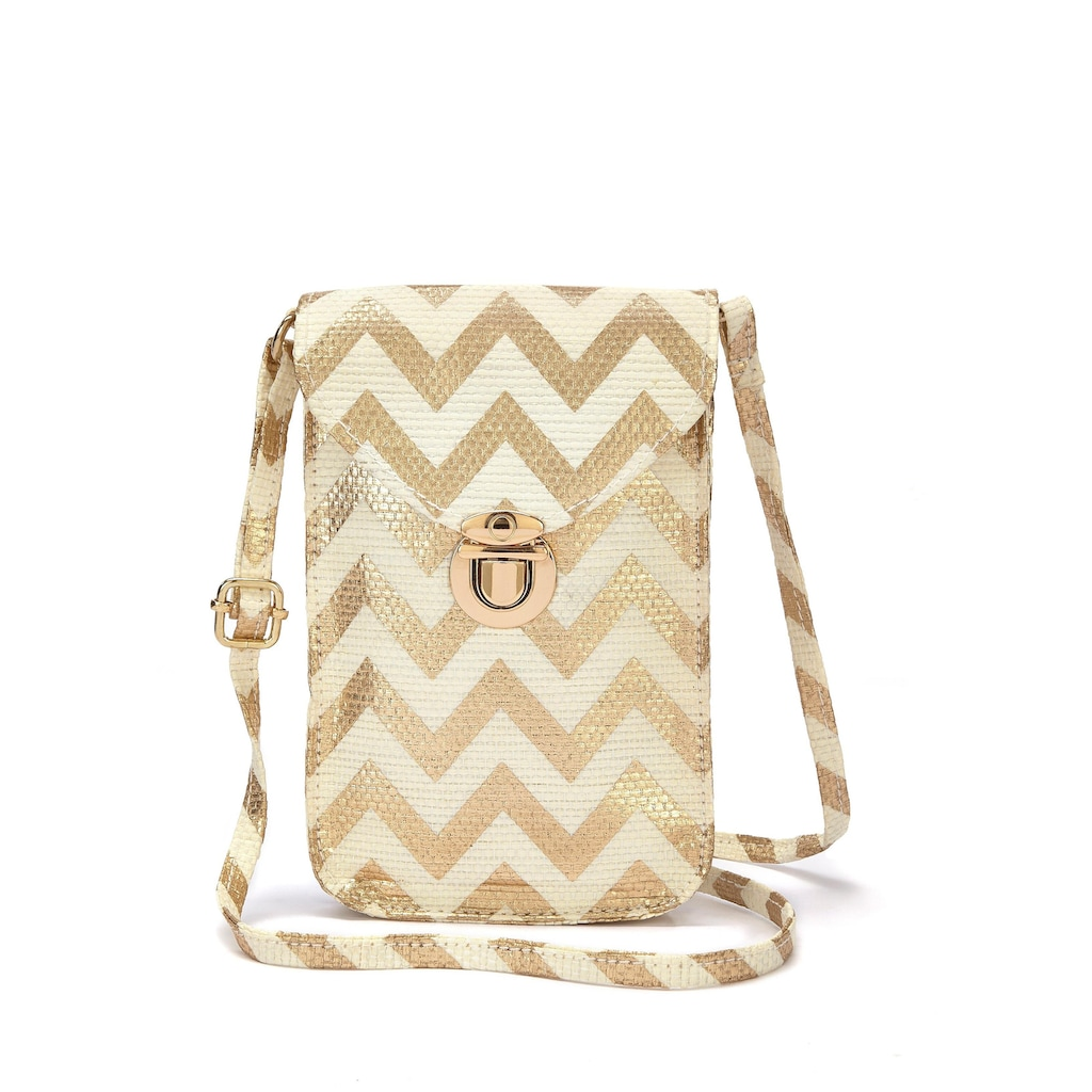 LASCANA Umhängetasche, Minibag, Handytasche zum Umhängen im modischen Bast Look