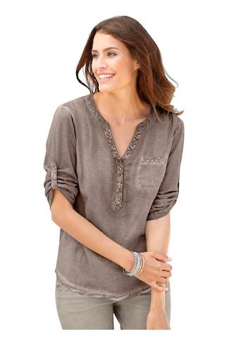 Classic Inspirationen Bluse mit dekorativen Ziernieten kaufen