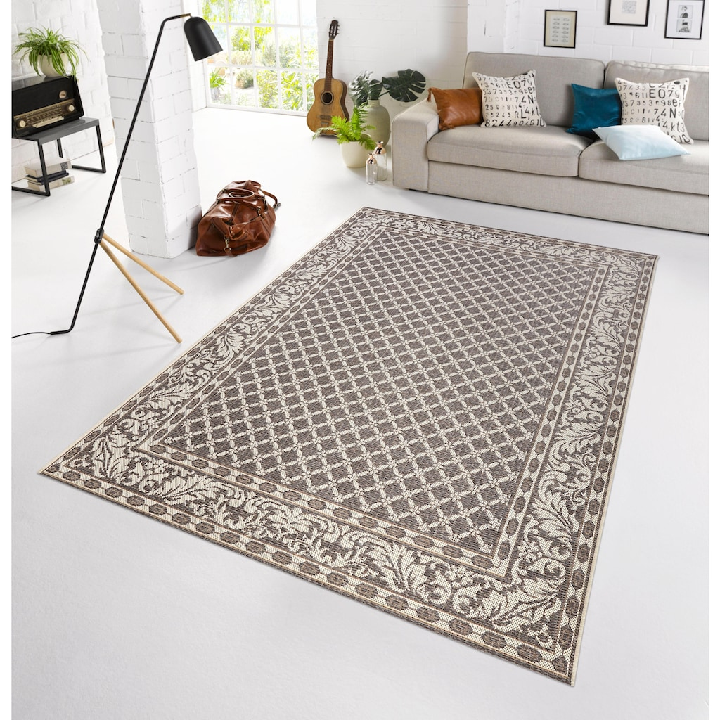 bougari Teppich »Royal«, rechteckig, 4 mm Höhe, Sisal-Optik, In- und Outdoor geeignet, Wohnzimmer