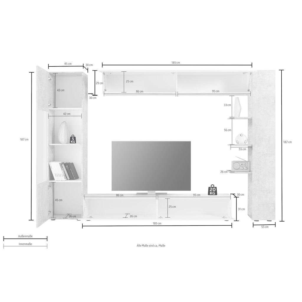 LC Wohnwand »Sorano«, (Set, 4 St.)